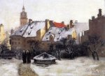 Winter Afternoon-Old Munich - Oil Painting Reproduction On Canvas