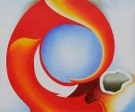 Goat's Horn with Red - Georgia O'Keeffe Oil Painting
