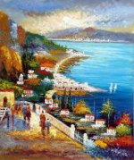 The Commute Along the Bay - Oil Painting Reproduction On Canvas