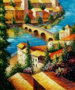 View of The Town - Oil Painting Reproduction On Canvas