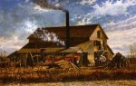 Cotton Gin, Adams County, Mississippi - William Aiken Walker Oil Painting
