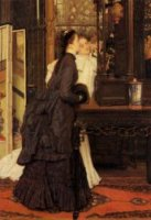 Young Ladies Looking at Japanese Objects - Oil Painting Reproduction On Canvas