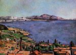 The Gulf of Marseilles Seen from L'Estaque - Paul Cezanne Oil Painting