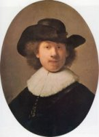 Self-portrait 28 - Rembrandt van Rijn Oil Painting