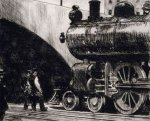 The Locomotive - Oil Painting Reproduction On Canvas