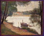 The Seine at La Grande Jatte in the Spring - Oil Painting Reproduction On Canvas