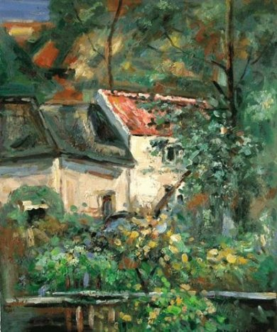 House of Piere La Croix - Paul Cezanne Oil Painting