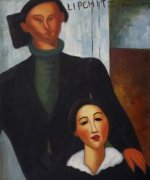 Jacques and Berthe Lipchitz II - Amedeo Modigliani Oil Painting