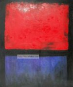 Untitled (Red, Blue over Black)