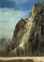 Cathedral Rocks, A Yosemite View - Albert Bierstadt Oil Painting