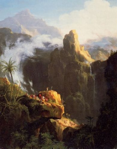 Landscape Composition: St. John in the Wilderness - Thomas Cole Oil Painting