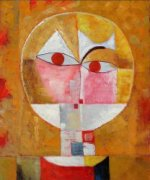 Head of Man-Senecio - Paul Klee Oil Painting