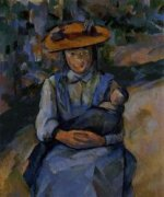 Little Girl with a Doll - Paul Cezanne Oil Painting