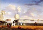 The Battery and Harbor, New York - Thomas Birch Oil Painting