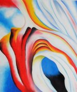 Music Pink and Blue II - Georgia O'Keeffe Oil Painting