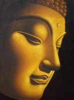 Golden Buddha - Oil Painting Reproduction On Canvas