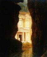 El Khasne, Petra - Frederic Edwin Church Oil Painting