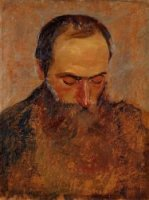 Portrait of Edouard Vuillard - Felix Vallotton Oil Painting
