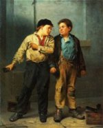 The Quarrel - John George Brown Oil Painting