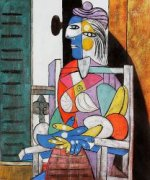 Woman Seated before the Window - Pablo Picasso Oil Painting