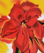 Red Amaryllis - Georgia O'Keeffe Oil Painting