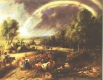 Landscape with a Rainbow 2 - Peter Paul Rubens Oil Painting