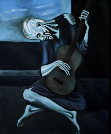 The Old Guitarist, 1903 - Pablo Picasso Oil Painting