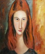Portrait of Jeanne Hebuterne V - Oil Painting Reproduction On Canvas