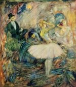 The Dancer in Her Dressing Room - Henri De Toulouse-Lautrec Oil Painting