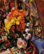 Chrysanthemums - Paul Cezanne Oil Painting