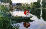 Quiet Day on the Seine - Oil Painting Reproduction On Canvas
