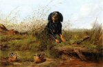 Cocker Spaniel and Woodcock - Arthur Fitzwilliam Tait Oil Painting