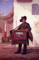 Street Musician - George Henry Story Oil Painting