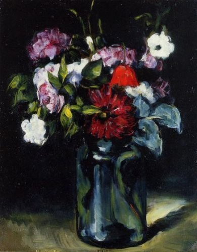 Flowers in a Vase II - Paul Cezanne Oil Painting