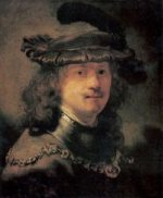 Self Portrait 20 - Rembrandt van Rijn Oil Painting