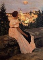 The Pink Dress - Oil Painting Reproduction On Canvas