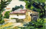 House in Provence III - Paul Cezanne Oil Painting