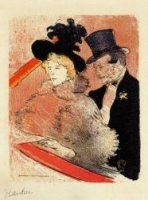 At the Concert - Henri De Toulouse-Lautrec Oil Painting