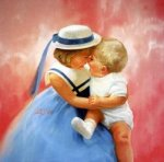 Mother's Angels - Donald Zolan Oil Painting
