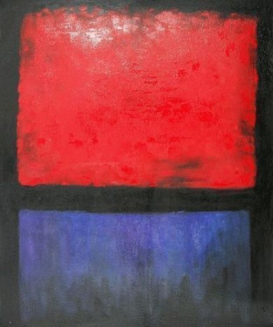 Untitled (Red, Blue over Black) - Mark Rothko Oil Painting