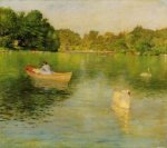 On the Lake, Central Park II - William Merritt Chase Oil Painting