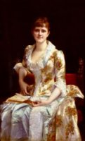 Portrait Of Young Lady - Oil Painting Reproduction On Canvas
