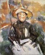 Child in a Straw Hat - Paul Cezanne Oil Painting