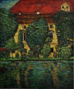 Schloss Kammer on Attersee II - Oil Painting Reproduction On Canvas