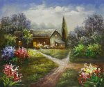 Moonlight Lane - Oil Painting Reproduction On Canvas