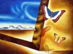 Landscape With Butterflies - Oil Painting Reproduction On Canvas