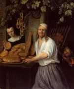 The Leiden Baner Arend Oosterwaert and His Wife Catharina Keyzerswaert - Jan Steen oil painting