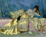 Lady on a Pink Divan - Oil Painting Reproduction On Canvas