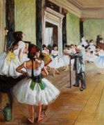 The Dance Class II - Edgar Degas Oil Painting