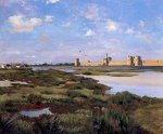 Aigues-Mortes - Jean Frederic Bazille Oil Painting